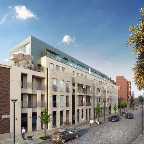 Nieuwbouw appartementen Baudelopark Gent