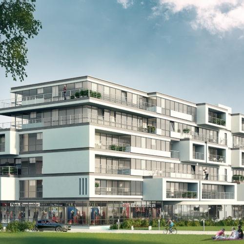 Nieuwbouw appartementen en handelsruimtes Dender Express Denderleeuw