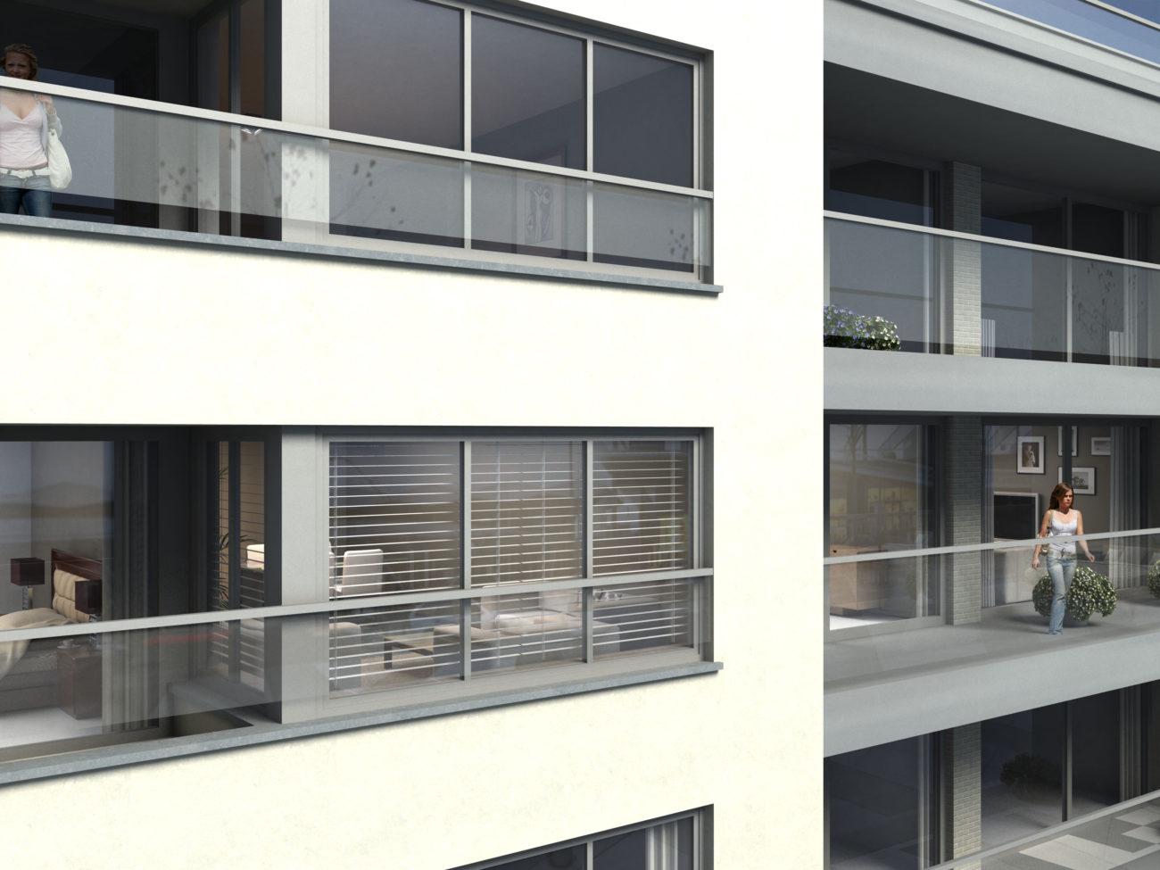 Nieuwbouw appartementen en handelsruimtes Plaza Express Sint-Niklaas