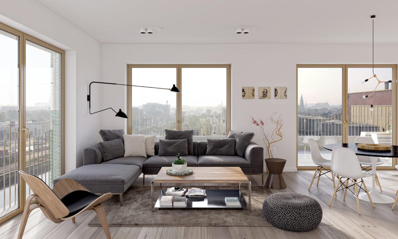 Stapelplein gent appartementen en woningen urbanlink for Interieur winkel gent