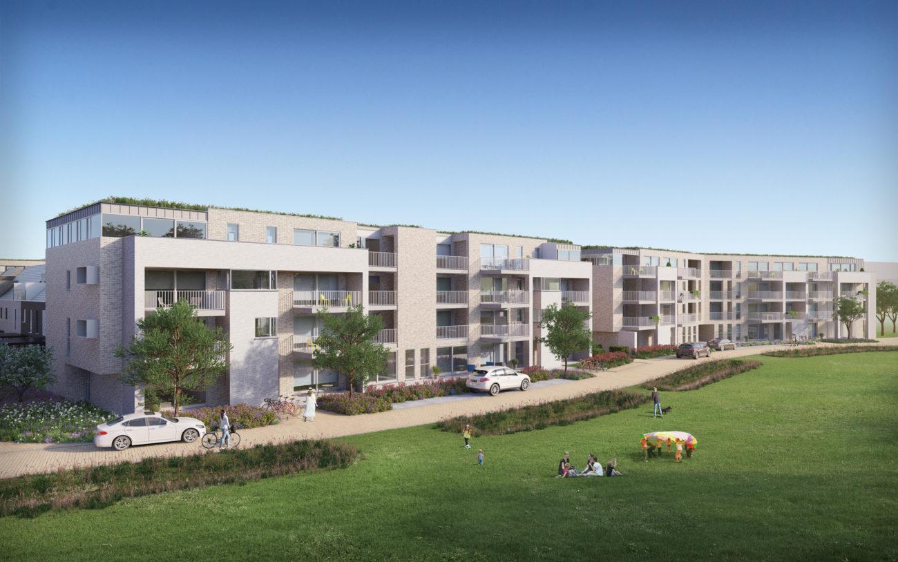 Nieuwbouw appartementen Park Bourgoyen Gent