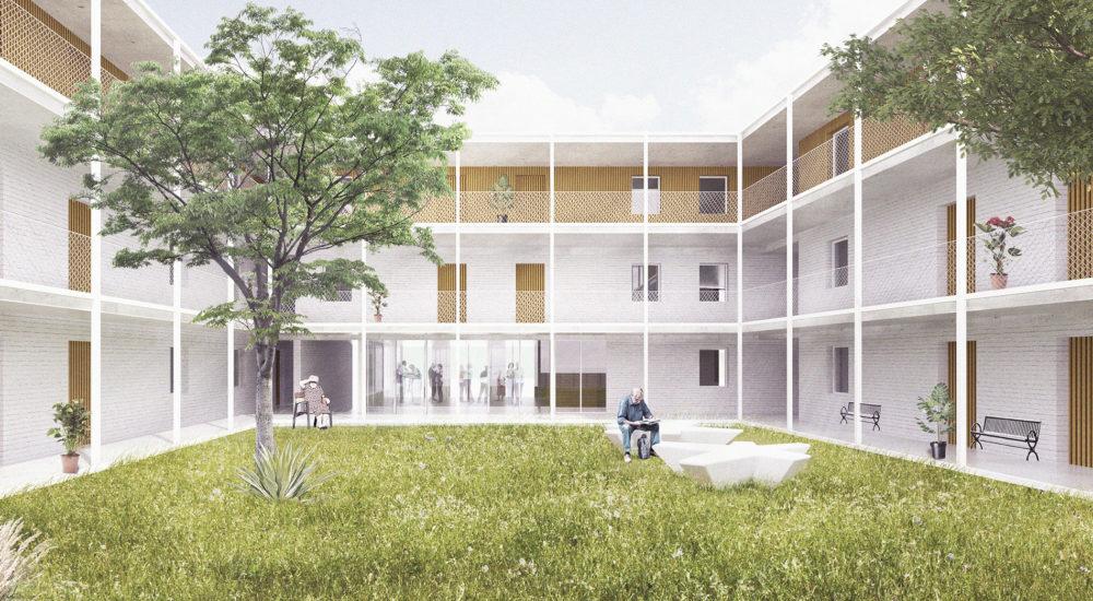 Hoppehof Ertvelde binnentuin